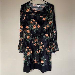 Small Black Floral Dress w Pockets Lauren Conrad